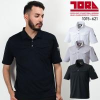 ◆寅壱 1015-621 ミニ襟半袖ポロシャツ 春夏用